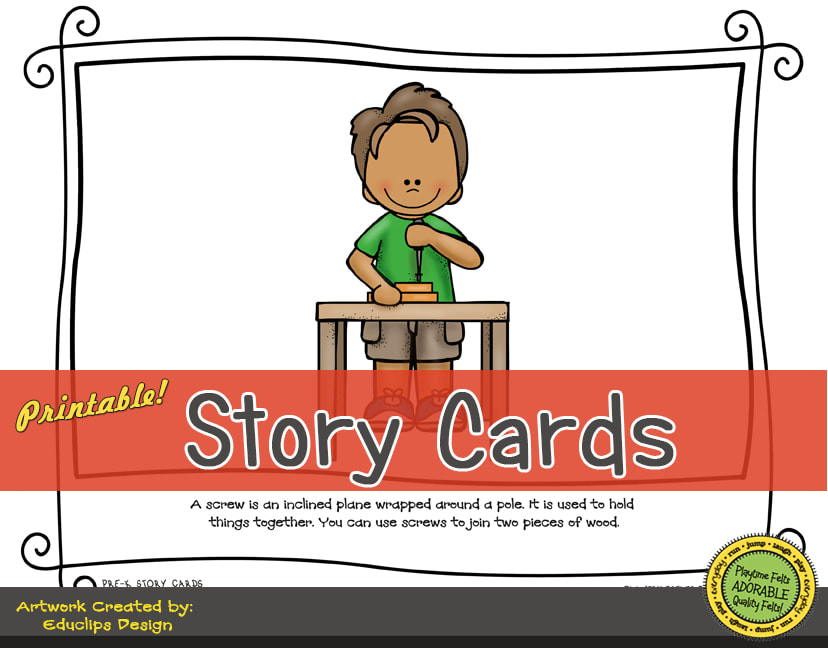 A Fun Felt Story in Rhyme: Machines Story Cards correlates with Playtime Felts Story Script  #preschool #printables #prek #storycards #circletime #playtimefelts #feltboardstories #iteachPicture