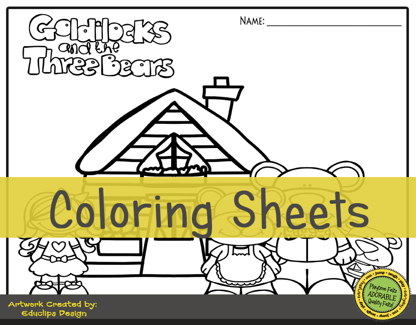 It's just a graphic of Goldilocks and the Three Bears Story Printable in kindergarten