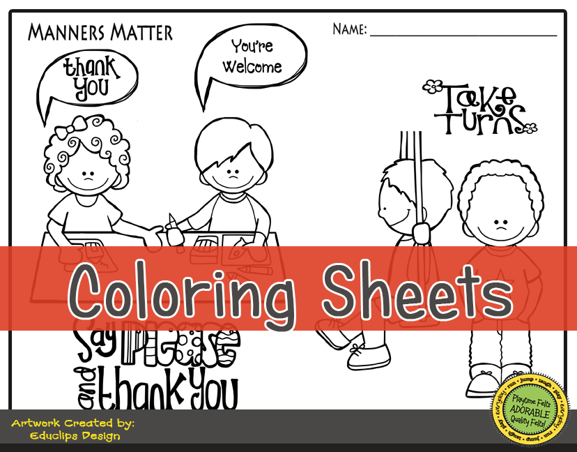 Manners matter digi download for Matter coloring pages