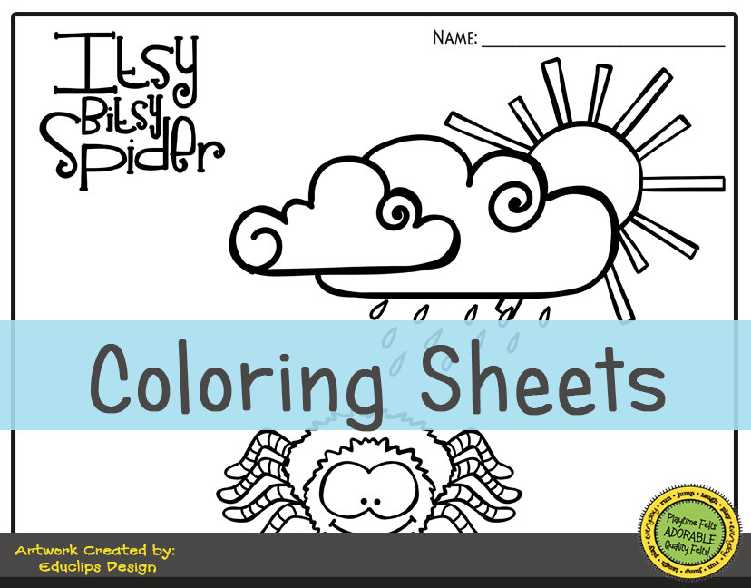 Itsy Bitsy Spider PreK Activities