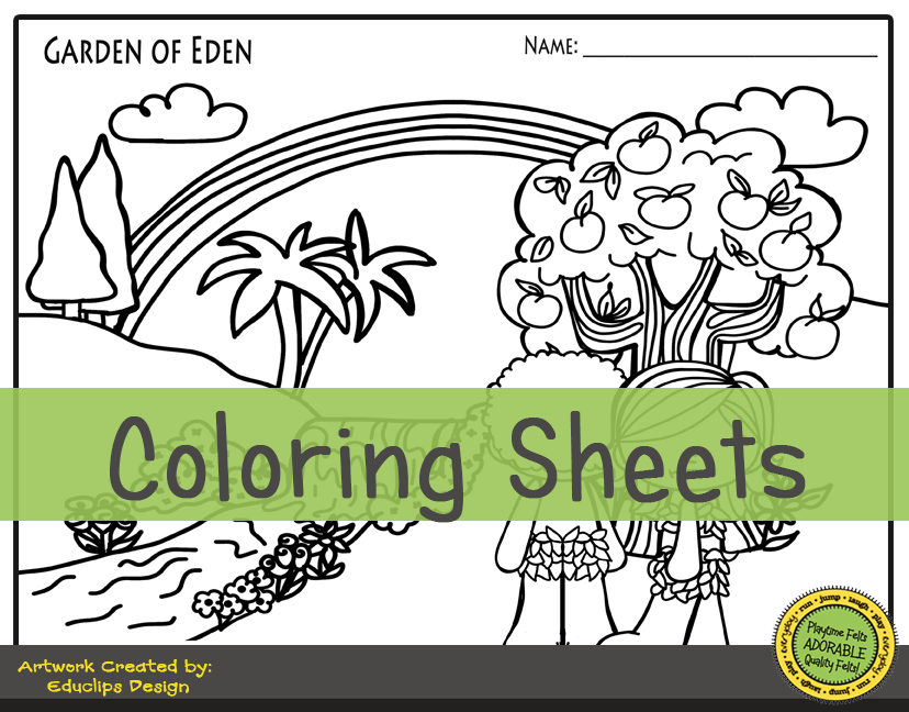 Adam in Eden - colouring in | Bible verse coloring, Adam and eve ... | 648x828