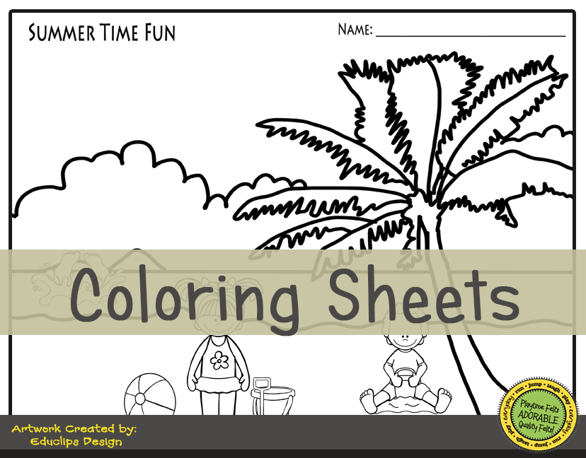 Summer Story Time Worksheet Activities