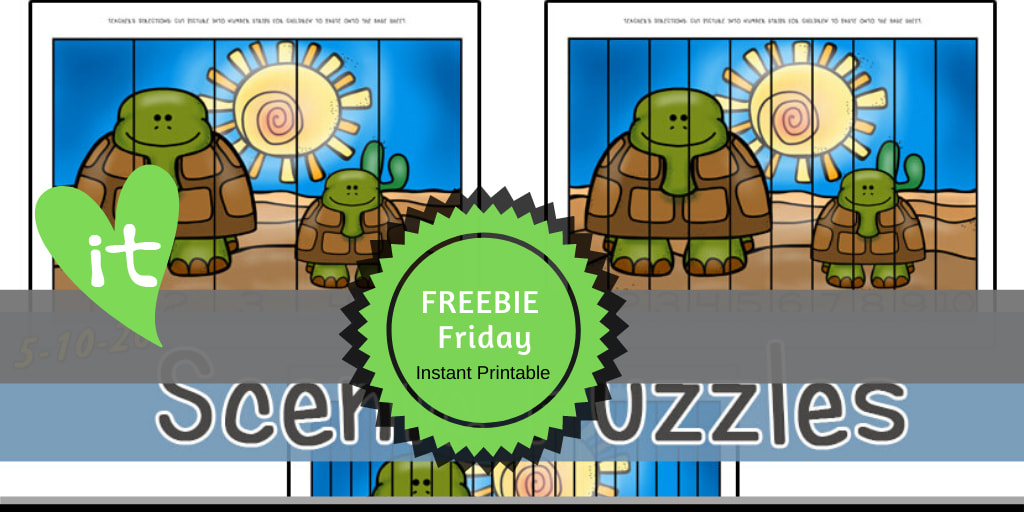 Habitats | Desert Animals FREEBIE Friday Printable by Playtime Felts: Scenic Puzzles  #prek #iteach #freeprintable #playtimefelts #teachers #parents #librarians #toddleractivities #earlylearning #worksheets  #preschool #iteachK #desert #habitats #turtles #puzzles