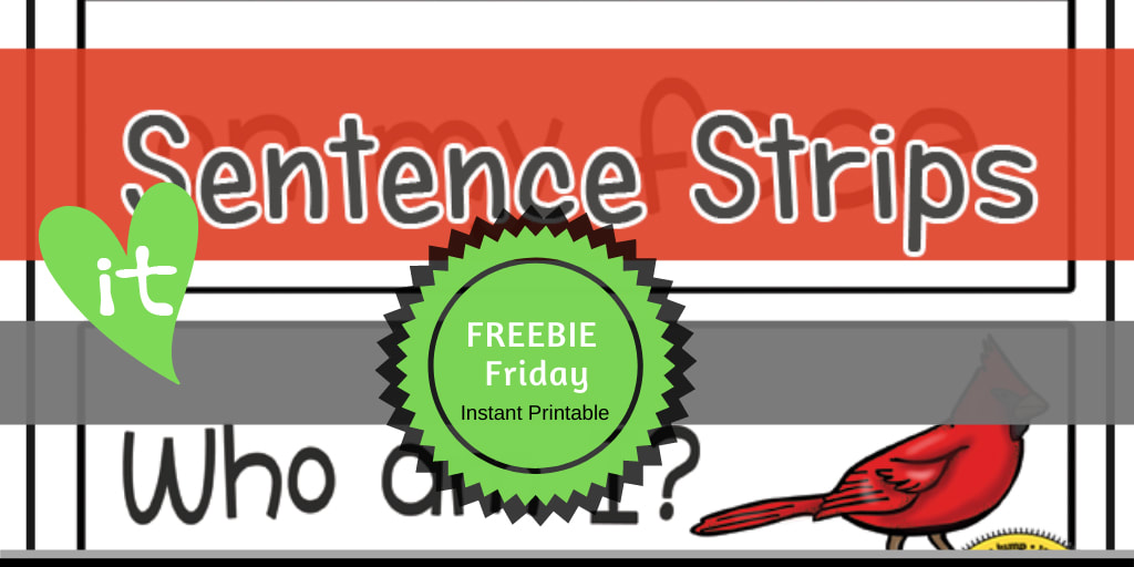 PreK Themes | Birds FREEBIE Friday Printable by Playtime Felts: Who Am I Sentence Strips  #prek #iteach #freeprintable #playtimefelts #teachers #parents #librarians #toddleractivities #earlyreader #earlylearning #worksheets #birds #robins #preschool #iteachK