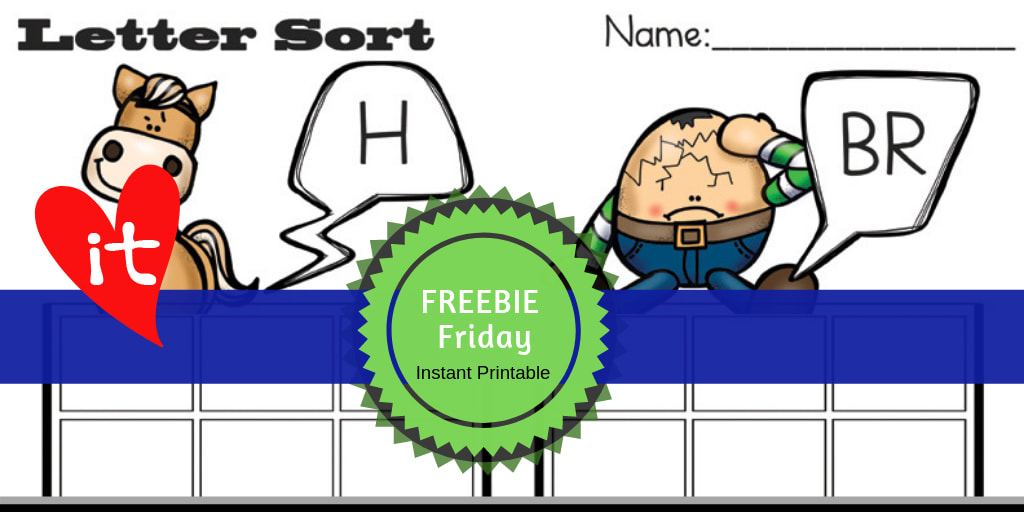 Freebie Friday PreK Printable | Humpty Dumpty Nursery Rhyme  #freeprintable #humptydumpty #preschool #nurseryrhymes #lettersort #playtimefelts