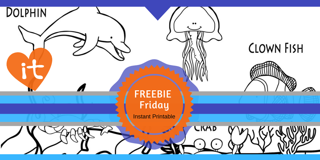FREEBIE Friday Coloring Sheet for Preschoolers #freeprintables #preschool #ocean #habitat #playtimefelts