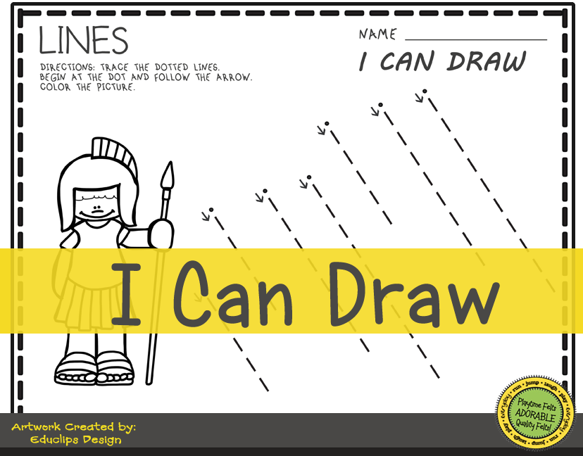 I Can Draw Lines Prek PrintablePicture