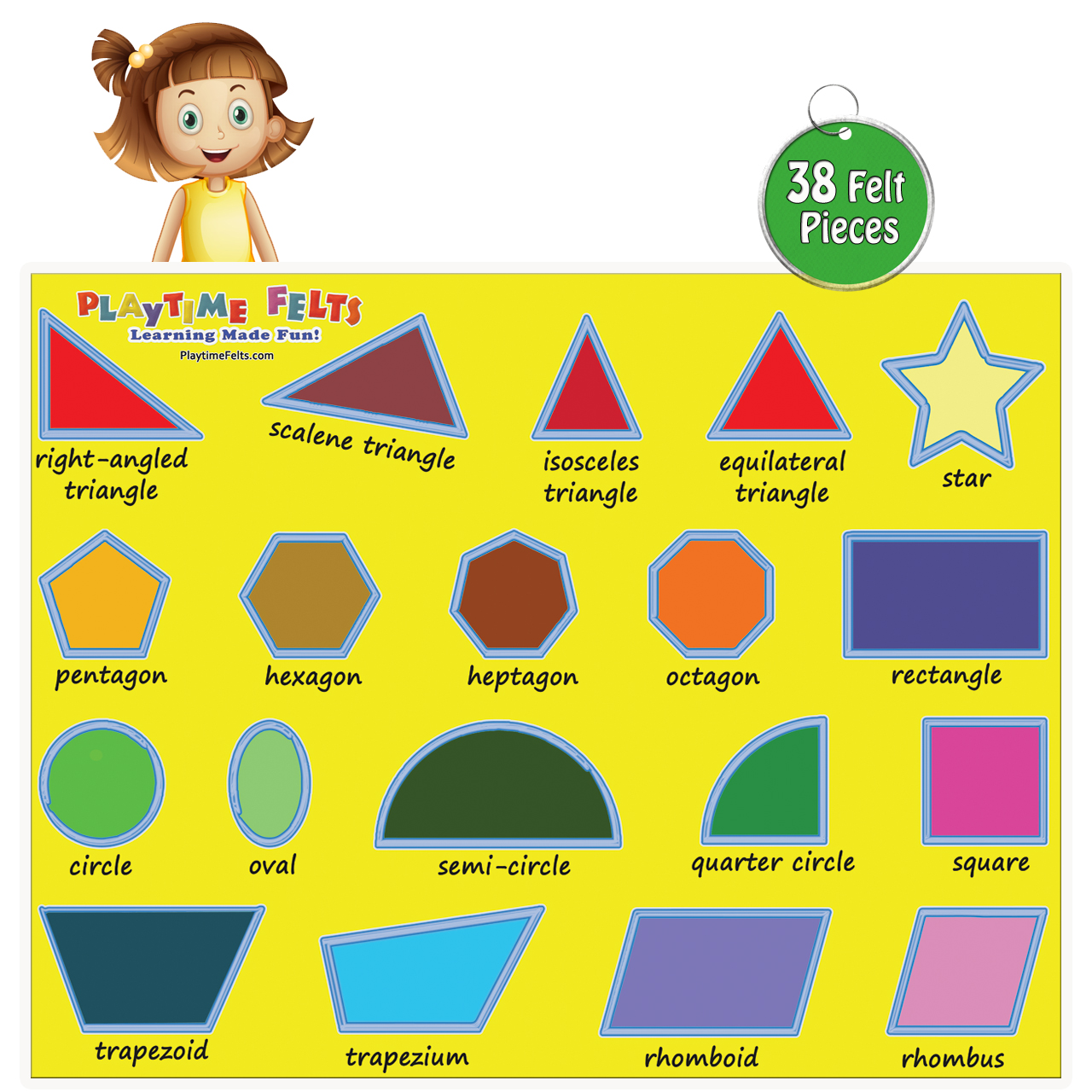 Worksheet Names Of Shapes With Pictures fun felt shapes with real big names uncut